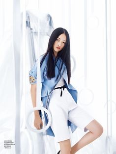 visual optimism; fashion editorials, shows, campaigns & more!: gym bunny: luping wang and jing wen for elle china march 2015