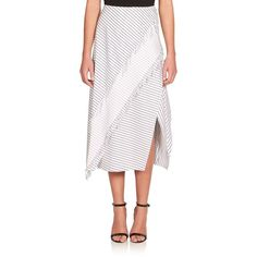 White Layered Ruffle Skirt Cedric Charlier Good Selling Browse For Sale OqF45
