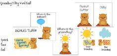 Speech Time Fun: Groundhog's Day Word Fun!  Prepositions, Associations, and Pragmatic Skills!
