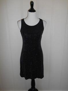 Vintage 90s  black  short dress sparkle by ATELIERVINTAGESHOP