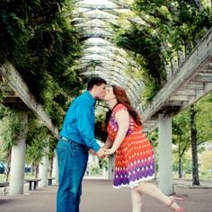 This couple decided to recreate their first date for their engagement shoot! This is an adorable idea!
