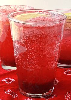 Raspberry Strawberry Cooler Recipe (2)  good with vodka. or yummy with peach vodka