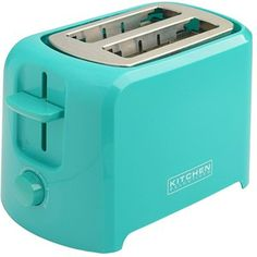 Amazon.com: Kitchen Selectives Cool-Touch 2 Slice Toaster - Teal: Toaster Ovens: Kitchen & Dining