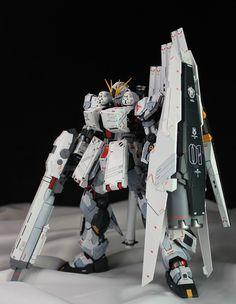 GUNDAM GUY: MG 1/100 Nu Gundam Ver Ka + HWS Parts - Customized Build