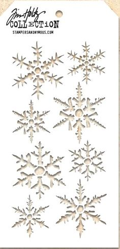 Tim Holtz Stencil THS050 Snowflake                                                                                                                                                                                 More
