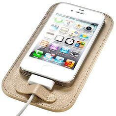 iPhone Charging Pad. The perfect landing strip between your delicate i-device and your Eames credenza, this natural Italian leather pad will protect your precious phone from nicks and dings with style. $52.00