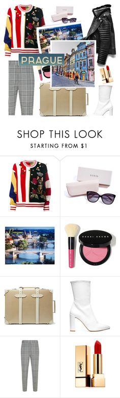 """Prague is my favourite destination"" by lianafourmouzi ❤ liked on Polyvore featuring Dolce&Gabbana, GUESS, Bobbi Brown Cosmetics, Globe-Trotter, Stuart Weitzman, Alexander Wang and Yves Saint Laurent"
