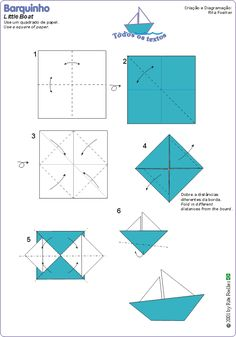 Origami Boat Instructions #1