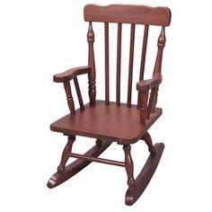 Childs Wooden Rocking Chair