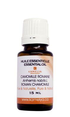 L'huile essentielle de camomille accroît la sensation de bien-être et d'harmonie qui atténue l'anxiété Son effet sédatif favorise l'endormissement. L'huile essentielle de camomille soulage les démangeaisons et les irritations de la peau. Elle possède une action positive sur les problèmes cutanés. Elle est d'une aide indispensable pour soulager les troubles du système digestifs.