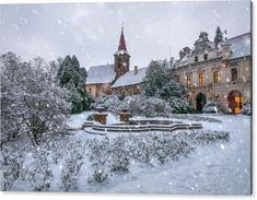Jenny Rainbow Fine Art Photography Acrylic Print featuring the photograph Christmas Fairytale At Pruhonice Castle by Jenny Rainbow Ur Beautiful, Beautiful Images, Wonderful Images, Art Prints For Home, Thing 1, Time Art, Any Images, Winter Time, New Wave