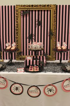 """Pink and black Halloween """"Pink-O-Ween"""" 