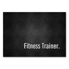 300 best fitness trainer business cards images on pinterest in 2018 fitness trainer cool black metal simplicity business card templates colourmoves