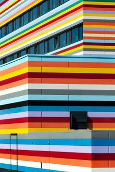 colored building
