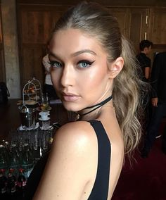 @gigihadid Has Landed In BERLIN Today's Winged Liner For ⚓️ @tommyhilfiger TommyxGiGi Collection. Hair By @patrickglatthaar Makeup By @patrickta