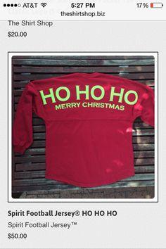 Spirit Football Jersey® HO HO HO - The Shirt Shop - The Shirt Shop Tuscaloosa's store for Elephant Wear and Game Day Apparel Christmas Craft Show, Christmas Vinyl, Christmas Shirts, Christmas Clothes, Xmas Crafts, Christmas Wishes, Monogram T Shirts, Spirit Shirts, Spirit Jersey