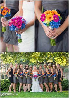 bright wedding bouquets #weddingflowers