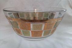 Vintage MCM Georges Briard Green and Gold Leaf Bowl