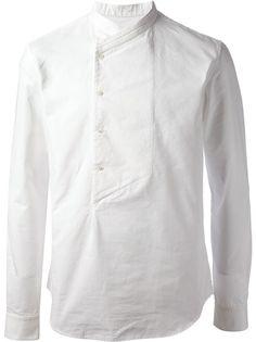 BALMAIN Wrap Neck Shirt #wonderfulstore