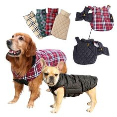 Material: Polyester+TCSeason: Autumn/WinterPattern: PlaidType: DogsFeature dog clothes WinterFeature Pet Down JacketsFeature clothes for dogs for small dogs Pet Puppy, Pet Dogs, Pets, Large Dogs, Small Dogs, Dog Jacket, Puppy Clothes, Dog Coats, Warm Coat
