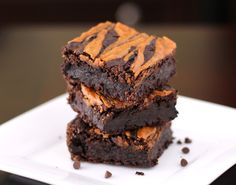 Super moist and fudgy Healthy Fudgy Peanut Butter Swirled Black Bean Brownies! Low fat, sugar free, high fiber, high protein, gluten free and vegan!