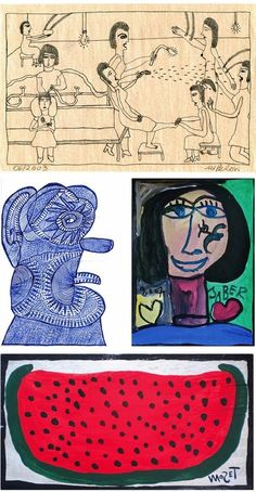 If you do like Outsider Art, Raw Art or Art Brut, you may have a look at www.outsider-art-brut.ch (www.aussenseiterkunst.ch for german), a gallery page, just updated which presents works of more than seventy recognized and yet unknown outsider artists, among which are, for example, these fascinating drawings by Marilena Pelosi, Ernst Kolb,Jaber al-Mahjoub and Mose Tolliver...