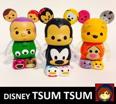 We had wondered when the worlds of Disney Tsum Tsum and Vinylmations would collide  /  3 custom Vinylmation designs are themed to Mickey & Friends, Pooh & Friends, and Toy Story