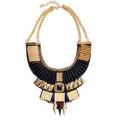 Collections by Hayley Black Aztec Statement Necklace (800 CZK) ❤ liked on Polyvore featuring jewelry, necklaces, accessories, colar, black, tribal necklaces, wrap necklace, heart shaped necklace, tribal statement necklace and tribal jewelry