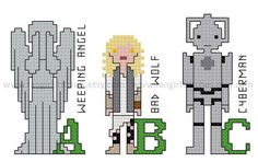 Doctor Who inspired Alphabet of Characters by FangirlStitches