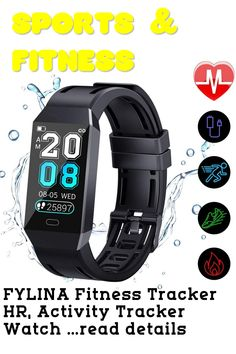 FYLINA Fitness Tracker HR, Activity Tracker Watch with Heart Rate Monitor and Sleep Monitor, IP67 Waterproof Smart Bracelet with Step Counter, Calorie Counter, Stopwatch, Pedometer for Men Women Kids ... (This is an affiliate link) Activity Tracker Watch, Best Fitness Tracker, Calorie Counter, Smart Bracelet, Workout Accessories, Heart Rate Monitor, Smart Watch, Sleep, Activities