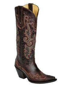#LDS #Mormon -  New Corral G1031 LDS Brown/White/Studs 9 Womens Western Boots / http://www.mormonslike.com/new-corral-g1031-lds-brownwhitestuds-9-womens-western-boots/