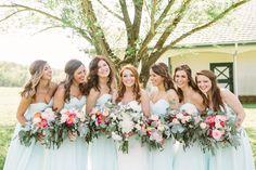 light blue bridesmaid dresses | Kati Mallory