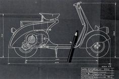 VESPA - 1946 April, 23 Designed by Corradino D'Ascanio & Enrico Piaggio (by Piaggio)