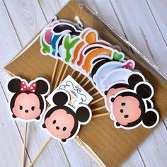 12 Tsum tsum Cupcake toppers Birthday by FancymyCupcakeTopper