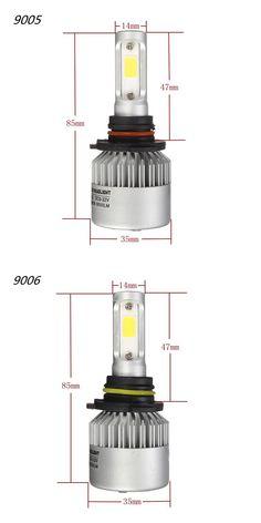 Pair 36W 8000LM COB LED Car Headlights Fog Lamps Bulbs H4 H7 H11 9005 9006 6500K White Car Headlight Bulbs, Car Headlights, Lamp Bulb, Led, Electric Scooter, Car Lights, Car Audio, Lamps, Automobile