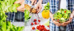 salad, prepare salad, whole30. Salát, přírava salátu. Kompozit, foodstiling.