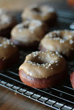 salted caramel chocolate doughnuts