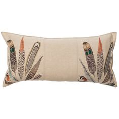 Coral and Tusk - feather fan long pillow