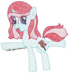 Sugar Rush, MLP unicorn OC, cheerful pony, Future Equestria, 31th century,