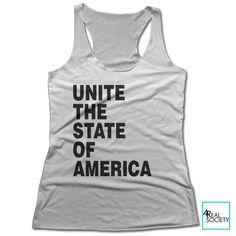 Unite The State Of America - Women's Racerback Tank