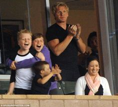 He also hugged Ramsay's son Jack in celebration. Galaxy were playing the Portland Timbers, who lost the game in a defeat Chef Gordon Ramsay, Portland Timbers, David And Victoria Beckham, Gordon Ramsey, Hells Kitchen, Las Vegas, Celebration, Lost, Game