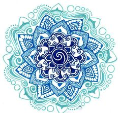 mandala -- a circle which encompasses many virtues such as perfection, unity, eternity, and completeness. This Lotus Mandala tattoo aims not only to please your senses with its aesthetic appeal but to also be a source of inspiration for a wholesome life. Mandala Tattoo Design, Lotus Mandala Tattoo, Lotus Flower Tattoo Design, Mandala Art, Lotus Design, Celtic Mandala, Watercolor Mandala, Blue Lotus Tattoo, Colorful Mandala Tattoo