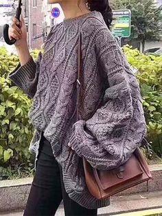 2c40047e068b71 Long Sleeves 3 Colors Sweater Tops Boho Fashion
