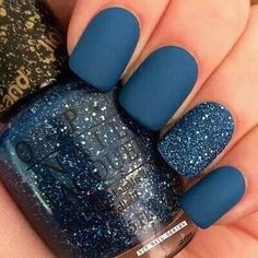matte blue with OPI get your number