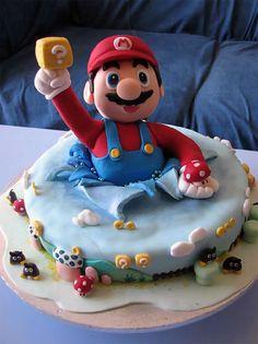 C'est plus un gateau à ce niveau !? Mario cake