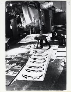 Warhol at work inside The Factory.