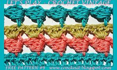 LET'S PLAY CROCHET VINTAGE Free Pattern #9