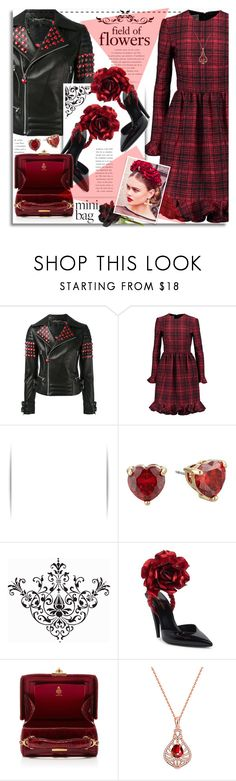 """""""Flowers and Hearts"""" by petri5 ❤ liked on Polyvore featuring Philipp Plein, Valentino, Betsey Johnson, Yves Saint Laurent, Mark Cross, Golden NYC, philosophy and Rock 'N Rose"""