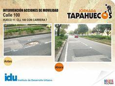 Intervención Acciones de Movilidad en la Calle 100 con Carrera 7a. #TapaHuecos