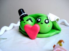 Wedding Cake Topper Two Peas in a Pod Cake Topper Personalized  Everyones heard of the expression those two are like peas in a pod! And how